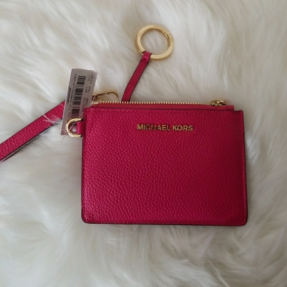 859ac4c666b7a3 Michael Kors Bags | Mercer Leather Coin Purse Ultra Pink | Poshmark